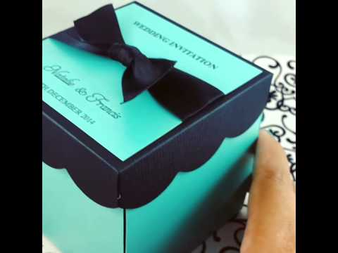 DIY KIT Wedding Exploding Box Invitations w/ Cake
