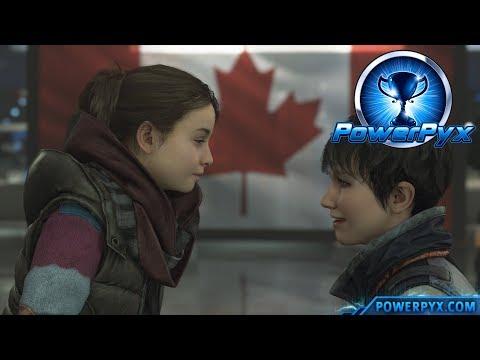 Detroit Become Human - HAPPY FAMILY & SAFE HARBOR Trophy Guide (Canadian Border Ending)