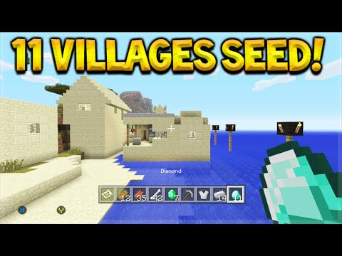 11 VILLAGES SEED! Minecraft Console TU39 Seed - Villages, Diamonds, Temples & More!