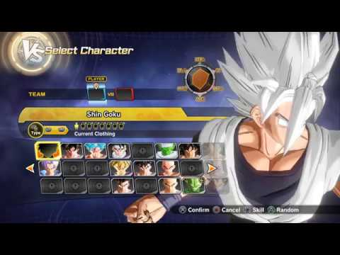 Dragon Ball Xenoverse 2 Shin Goku (Super God Goku) created character (cac)
