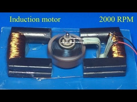 2000RPM induction motor running at 3V , fast mootor , DC motor without magnet