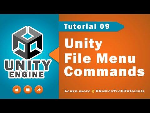Unity Essentials Tutorial 09 - File menu