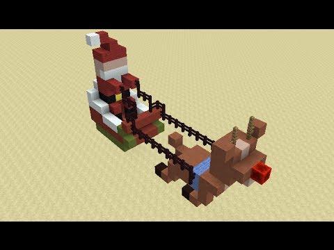 Santa's Flying Sleigh in Minecraft
