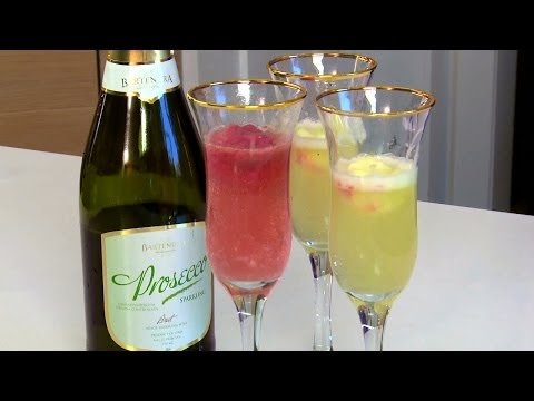 Perfect Party Cocktails: Champagne Sorbet Floats