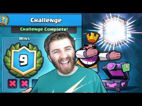 WOW! INSANE NEW CHALLENGE VICTORY RUN STREAK!   Clash Royale   NEW REDDIT 9 WINS CHALLENGE!!