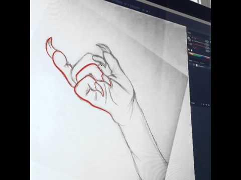 Catwoman Claw Hand Digital Sketch