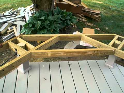 Framing for a Deck Bench