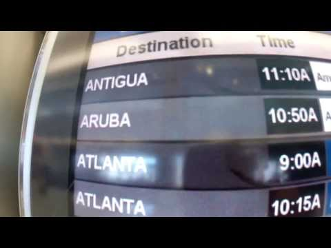 4 minute flight to Aruba