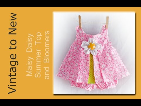 Maisy Daisy Top and Diaper Cover PDF Pattern and Video Tutorial