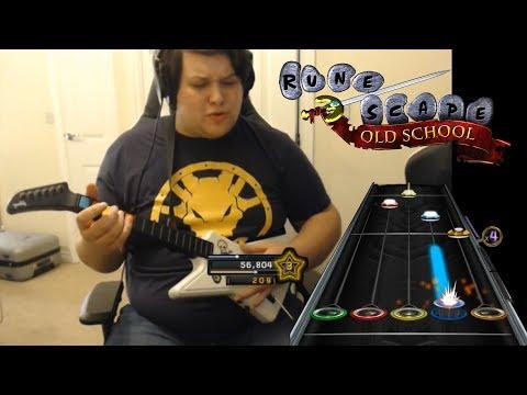 Old School Runescape Dev plays Runescape Theme on Guitar Hero