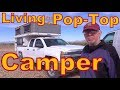 Living in a Four-Wheel Pop Top Camper Full-time