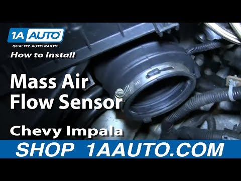 How To Install Replace Mass Air Flow Sensor 2006-08 Chevy Impala