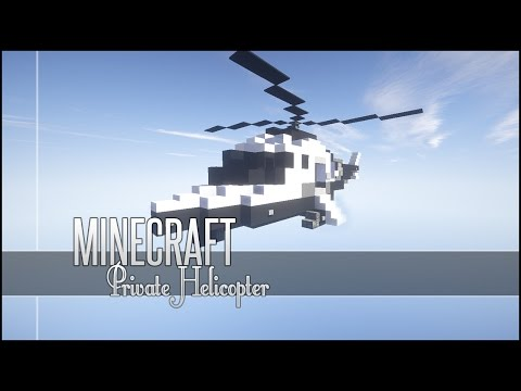 Minecraft Vehicle Tutorial - Private Helicopter