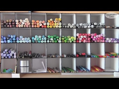 How to Build Your Own Copic Shelf (DIY) (