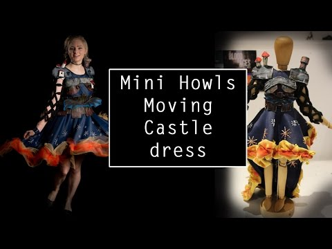 Making my Howls Moving Castle dress- miniature version