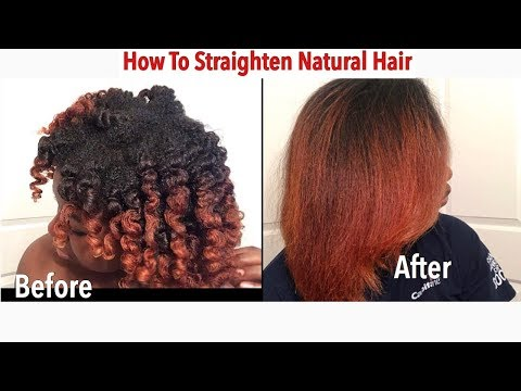 How to Straighten Natural Hair at Home | ft. Irresistible Me