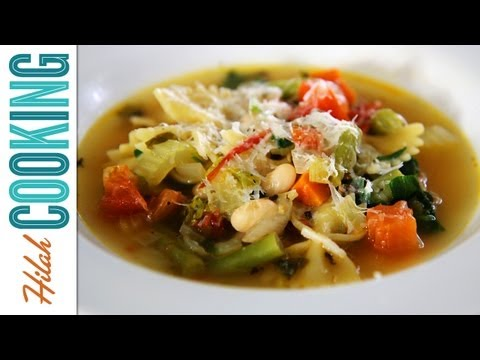 How to Make Vegetarian Minestrone Soup Recipe | Hilah Cooking