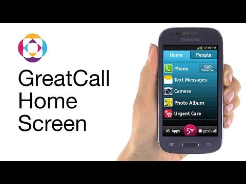Jitterbug Touch Home Screen