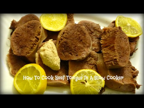How To Cook Beef Tongue In A Slow Cooker | By Victoria Paikin
