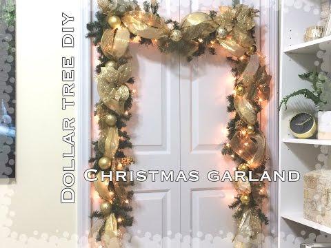 DIY|Dollar Tree Christmas Garland VD#8