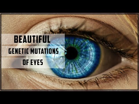Beautiful genetic mutations of eyes