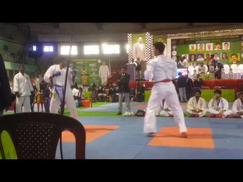 Karate kumite semi final match all india level budokan open karate championship suraksha cup 2017.