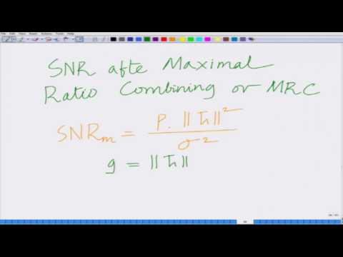 Lecture 17: Deep Fade in Multi Antenna Systems