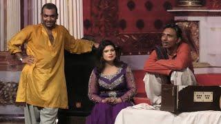 Rashid kamal and Husnain kamal with Tasleem Abbas | Stage drama Sohna Mashooq Howay