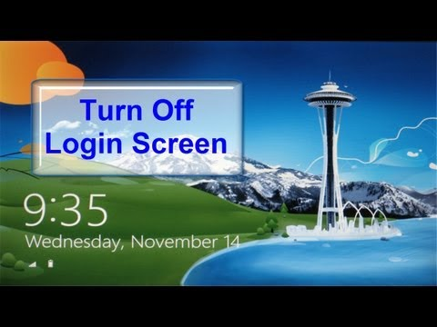 Windows 8 Lock & Login Screen Disabled & Bypassed