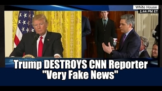 "President Trump vs CNN Reporter - Trump DESTROYS CNN for 9 Minutes Straight ""Very Fake News"""