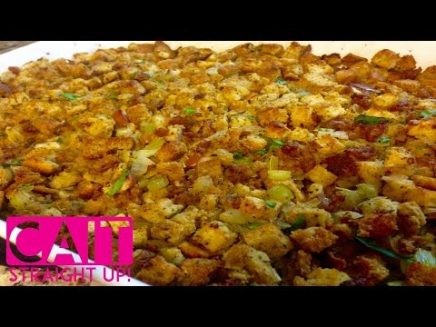 Best Stuffing Recipe For Thanksgiving   Cait Straight Up