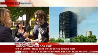 Grenfell Tower Fire: Sweary eyewitness on BBC News
