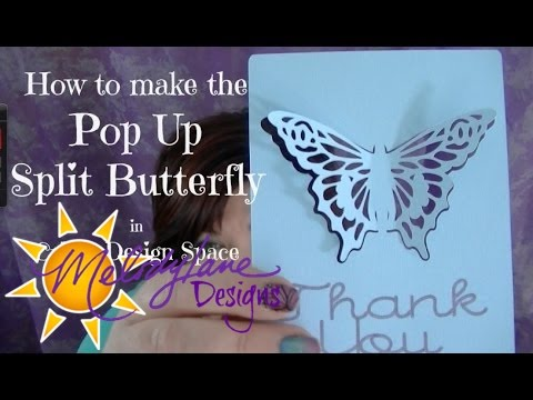 Split Pop Up Butterfly in Cricut Design Space