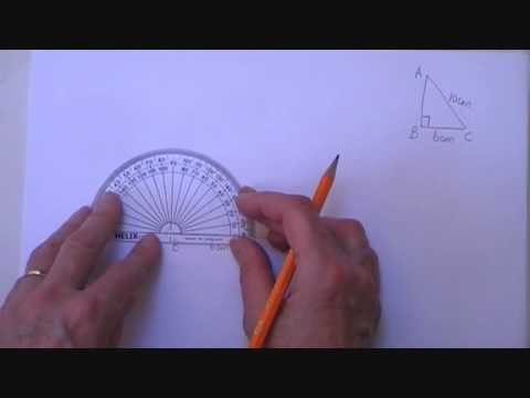 right angled triangle given hypotenuse & one other side