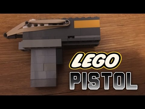 How To Build A Simple, Working Lego Pistol!! EXTREMELY POWERFUL