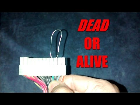 How To Test faulty PC POWER SUPPLY- The PAPER CLIP TEST(2015)