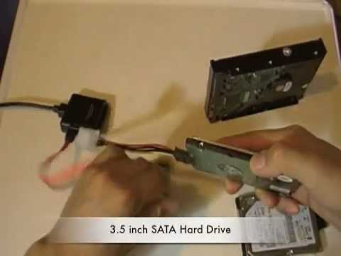 Hard Drive Data Recovery with USB adapter