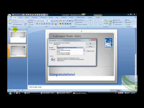 How to Embed an Excel Sheet into a PowerPoint Slide