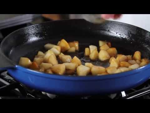 Healthy Caramel Pear Pancakes Recipe!