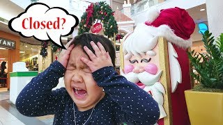 Christmas Shopping Adventure kids Vlog - Annica Singing twinkle twinkle little star