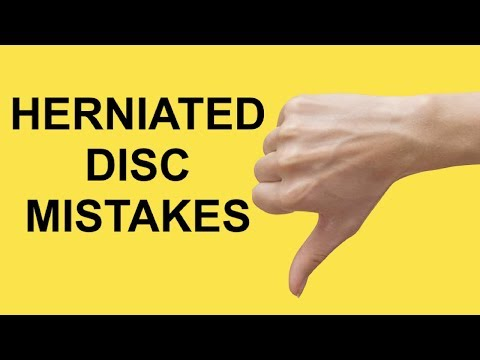 How to NOT fix a herniated disc (2 SCIATICA RECOVERY MISTAKES)