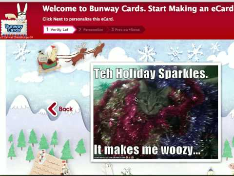 How to Make a Bunway Cards eCard