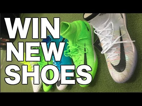 WIN soccer shoes & indoor soccer shoes   Im giving away soccer cleats & football shoes to 1 winner