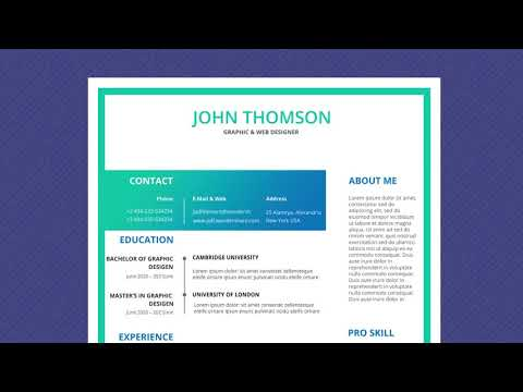 Free Professional Resume Template - Magic Color Lite