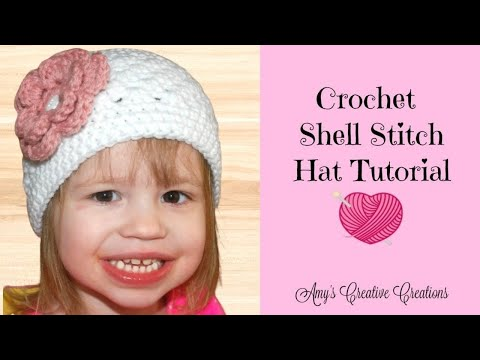 Crochet Shell Stitch Hat Tutorial  - Crochet Jewel