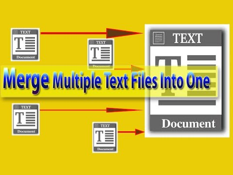 How To Merge Multiple Text Files Into One