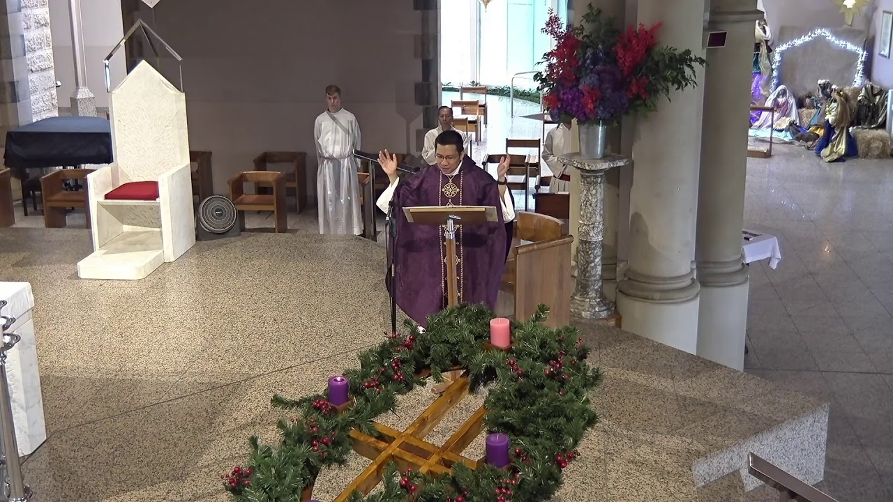 (2020-12-06) December 6, 2020. 8.00am Mass for the 2nd Sunday in Advent