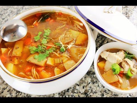 Sopa De Pollo Con Vegetales - Receta Casera A Mi Estilo