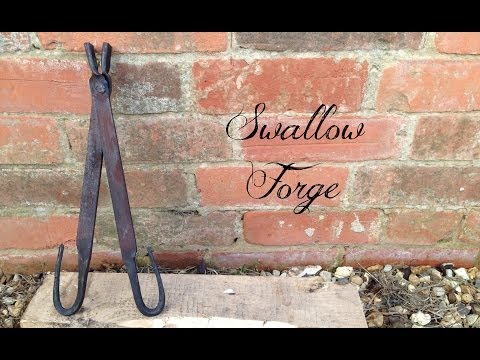 Super Simple Tongs ideal for the beginner. blacksmith tools No.18 - Swallow Forge
