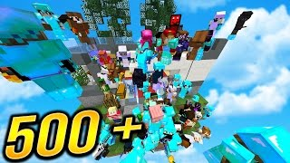 500+ PLAYERS On ONE ISLAND... | (Minecraft SKYBLOCK) #3